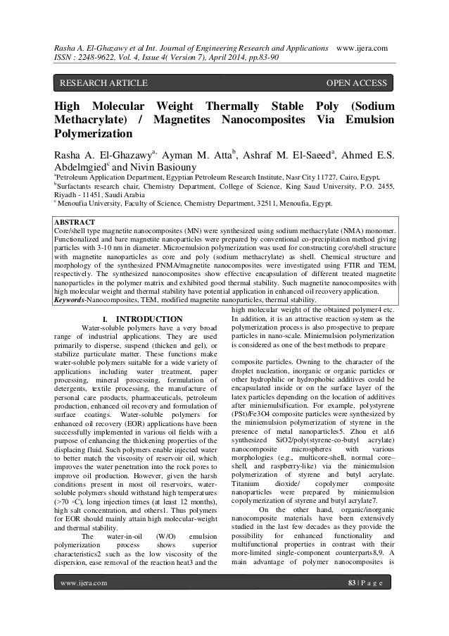 Rasha A. El-Ghazawy et al Int. Journal of Engineering Research and Applications www.ijera.com ISSN : 2248-9622, Vol. 4, Is...