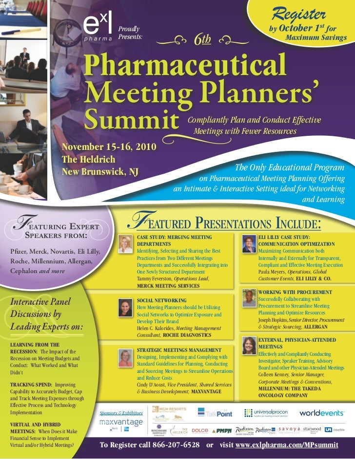 6th Pharmaceutical Meeting Planners Conference Brochure