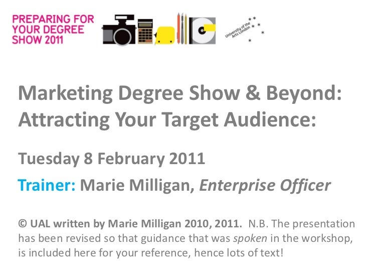 [PDS] Attracting your Target Audience - Marie Milligan