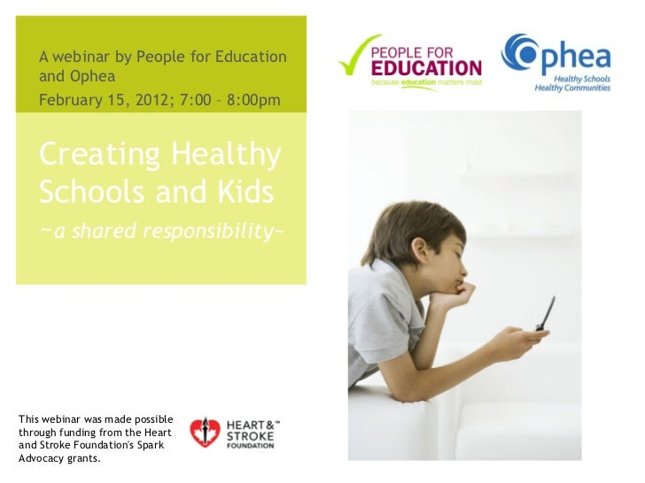 Creating Healthy Schools - the toolkit