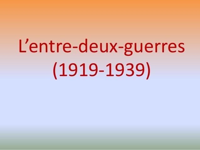 L'entre-deux-guerres (1919-1939)
