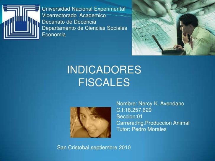 Universidad Nacional Experimental<br />Vicerrectorado  Academico<br />Decanato de Docencia <br />Departamento de Ciencias ...