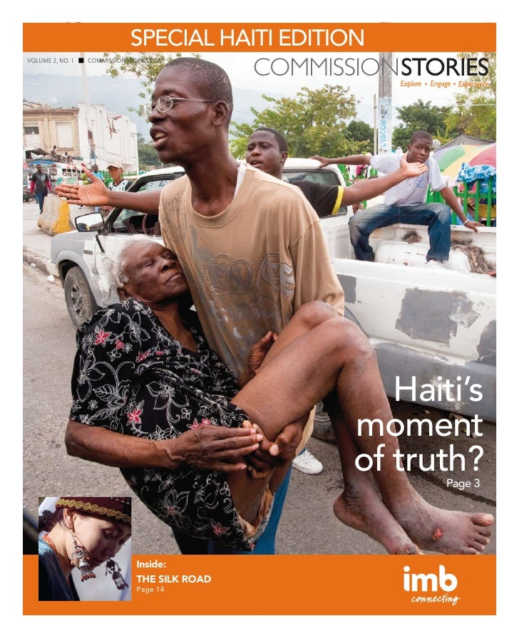 SPECIAL HAITI EDITION VOLUME 2, NO. 1   COMMISSIONSTORIES.COM                                                        Haiti...