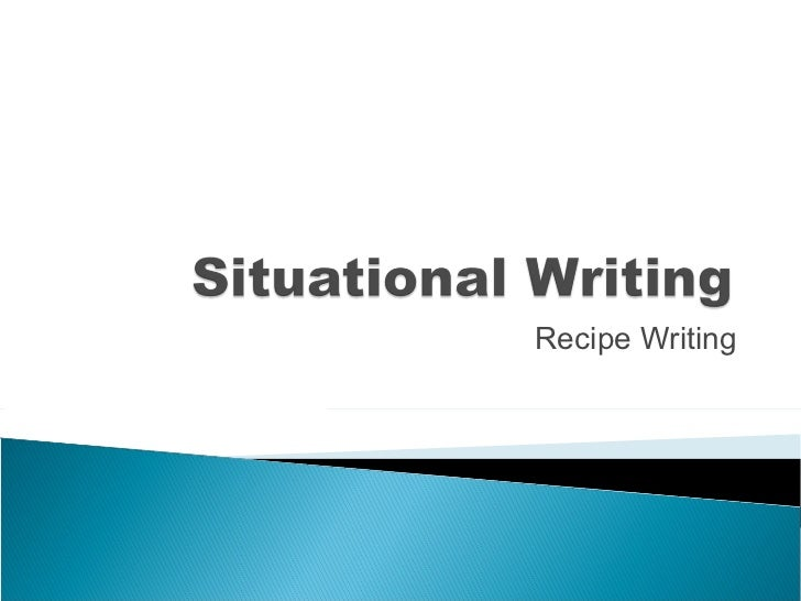 Recipe Writing