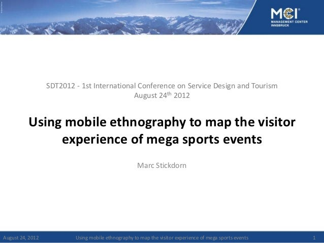 SDT2012 - 1st International Conference on Service Design and Tourism                                            August 24t...