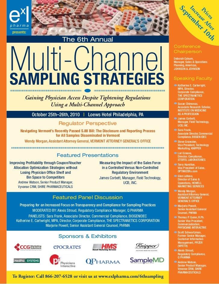 ExL Pharma's 6th Sampling Strategies Conference Brochure