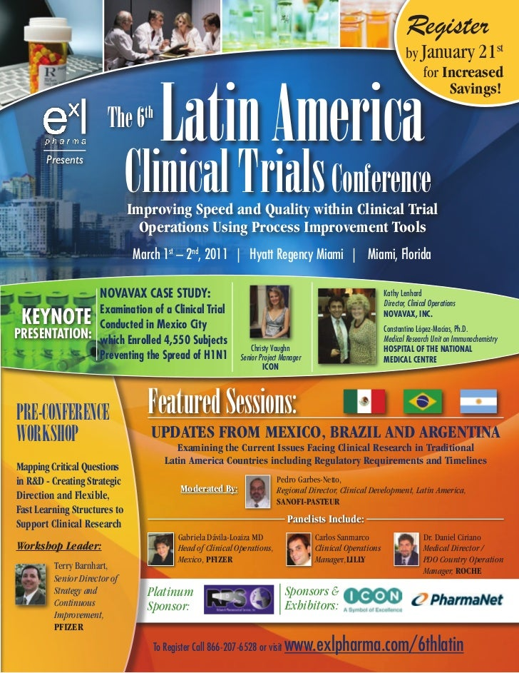 6th Latin America Clinical Trials Conference, March 2011, Philadelphia