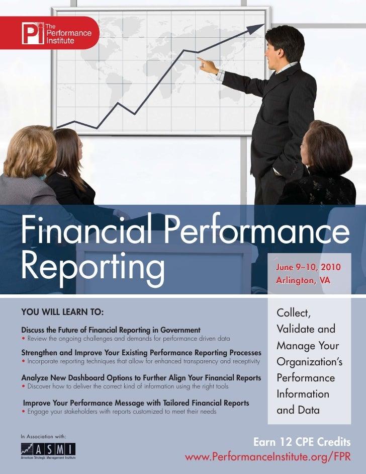 Financial Performance Reporting                                                                                 June 9–10,...
