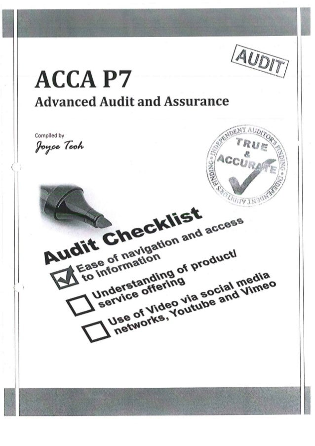 ACCA P7 Study Notes