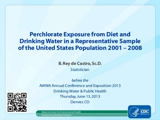 Perchlorate Exposure from Diet and Drinking Water in a Representative Sample of the United States Population 2001 – 2008