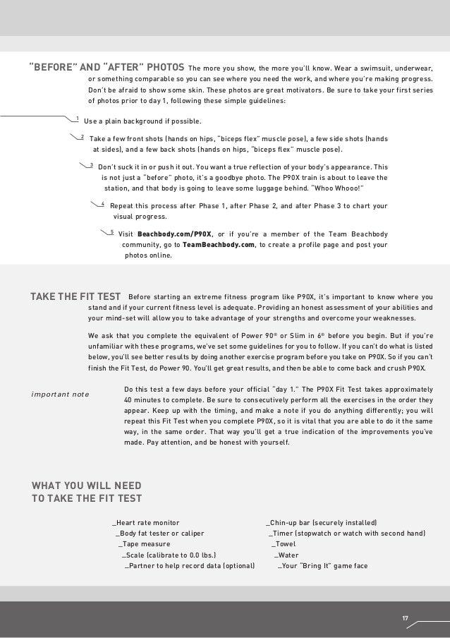 P90X Fit Test Details