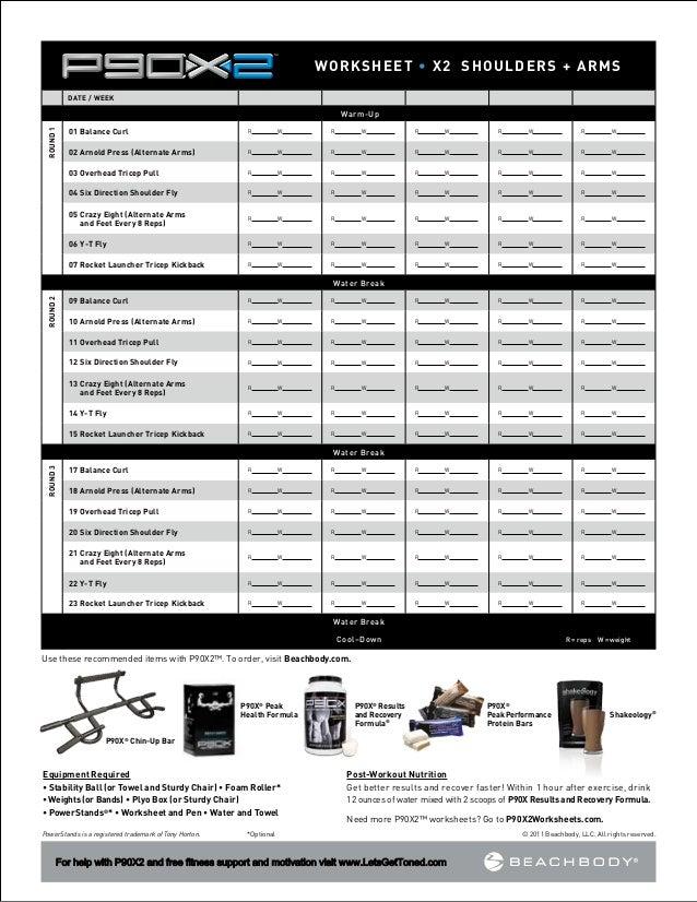 P90x2 Worksheets. Lesupercoin Printables Worksheets