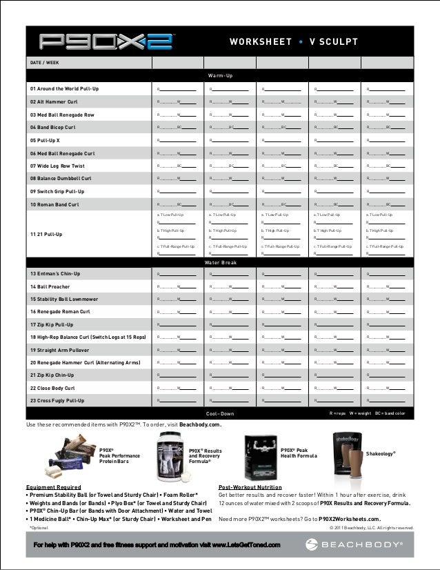 p90x2 worksheets. Black Bedroom Furniture Sets. Home Design Ideas