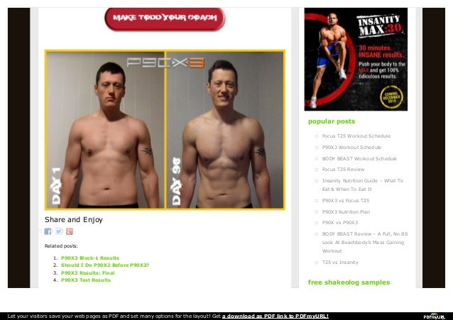 P90x3 Test Results Popular