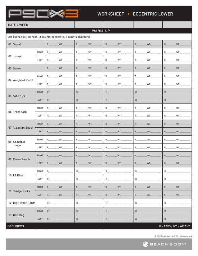 P90x2 Worksheets - Sharebrowse