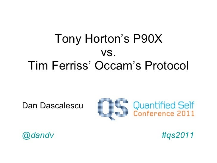 P90x vs. Occam's Protocol as described by Tim Ferriss in 4-Hour Body