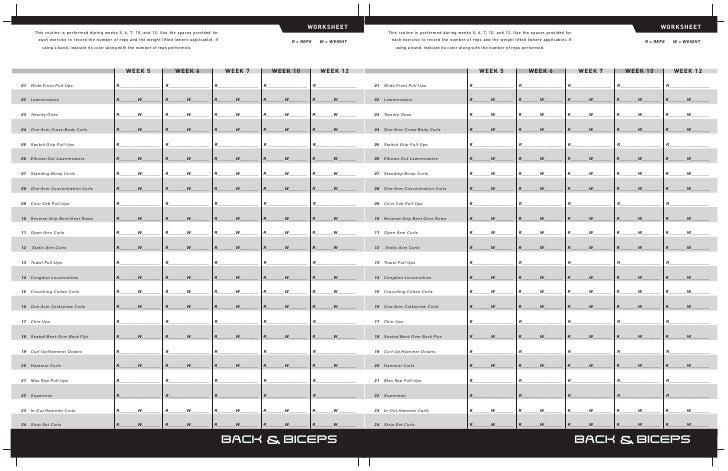 P90x Worksheet - Synhoff