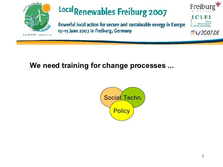 Click to edit Master title style Social Techn. Policy We need training for change processes ...
