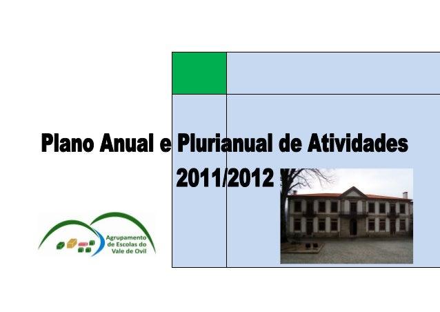 Plano Anual de Atividades do Agrupamento 2011/2012