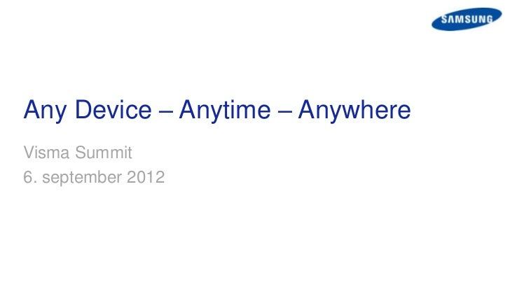Samsung v/Paal Anders Jansen - VISMA SUMMIT 2012