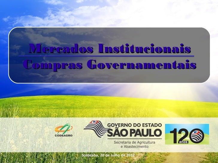 Palestra Compras Institucionais na Agricultura Familiar