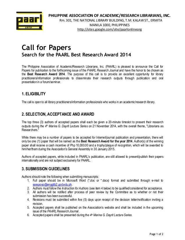 eample research paper