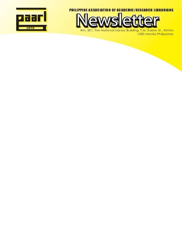 Paarl Newsletter 2012 vol 1- 2