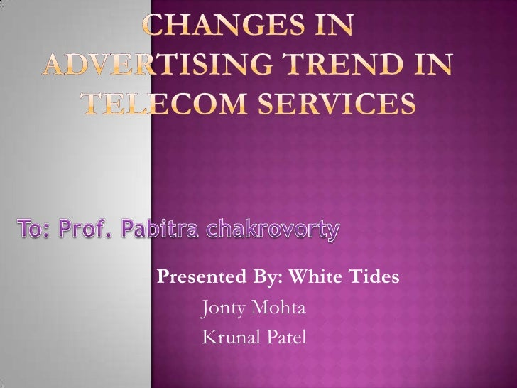 Advertisment trends in india ppt