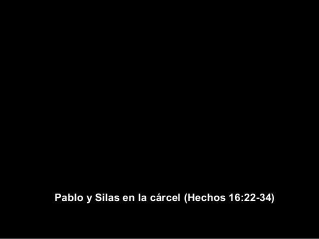 Pablo y Silas en la cárcel (Hechos 16:22-34)
