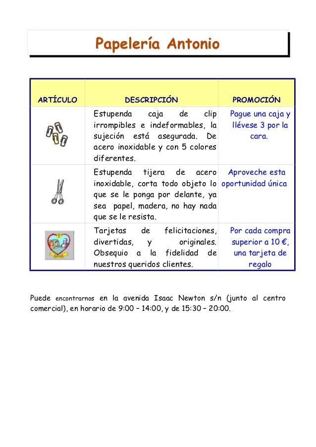 Papelería Antonio ARTÍCULO               DESCRIPCIÓN                  PROMOCIÓN                Estupenda     caja    de   ...