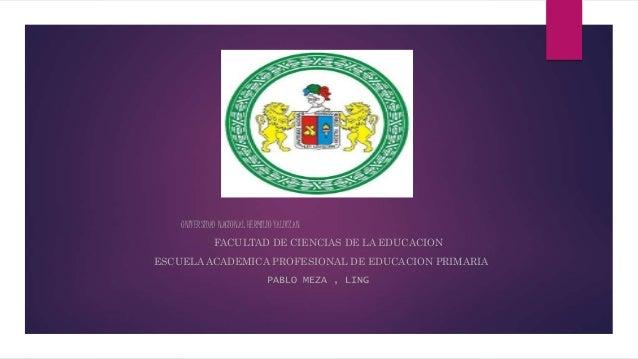 UNIVERSIDAD NACIONAL HERMILIO VALDIZAN FACULTAD DE CIENCIAS DE LA EDUCACION ESCUELA ACADEMICA PROFESIONAL DE EDUCACION PRI...