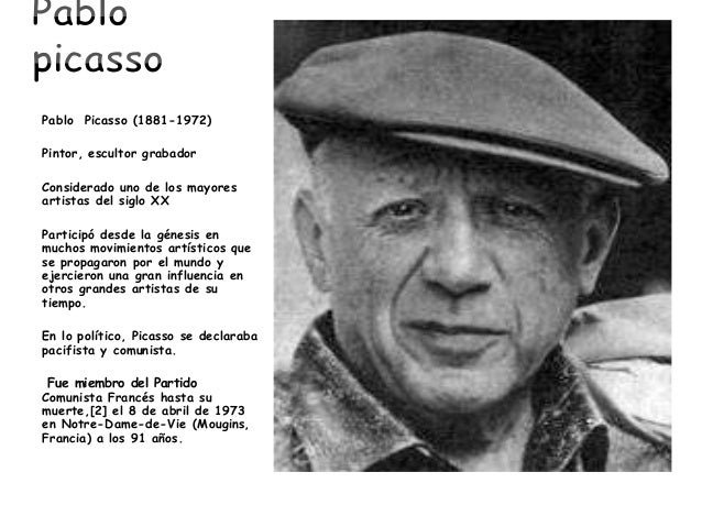a biography of pablo ruiz y picasso Pablo picasso: (painting of marie therese walter) 1939 find this pin and more on pablo ruiz y picasso by iphigenia find artworks by pablo picasso (spanish, 1881 - on mutualart and find more works from galleries, museums and auction houses worldwide.