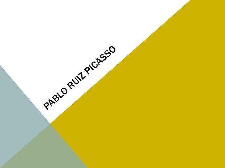 CONTENIDOI.    IntroducciónII.   Pablo PicassoIII. Época (etapa) azul (1901-1904)IV. Etapa rosa (1904-1905)V.    La creaci...