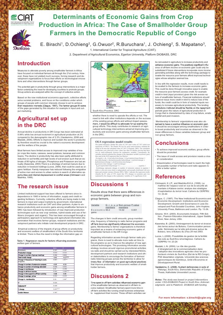 Determinants of Economic Gains from Crop                       Production in Africa: The Case of Smallholder Group        ...