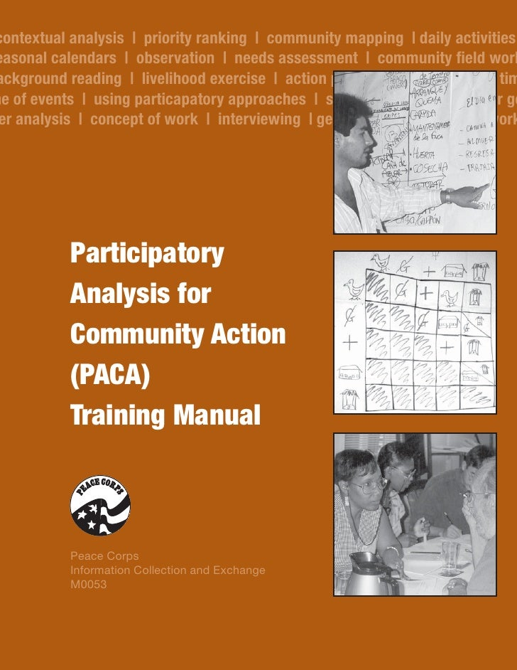 Participatory Analysis for Community Action (PACA) Training Manual