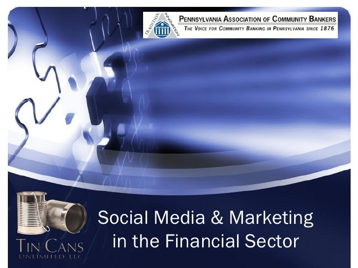 Social Marketing in the Banking and Financial Sector - PACB Presentation