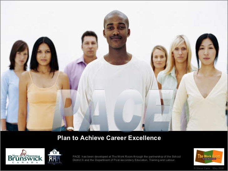 Plan to Achieve Career Excellence PACE ©  Steve Carle  May 2008 PACE  has been developed at The Work Room through the part...