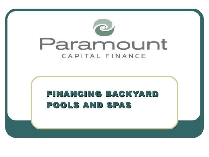 Pace 2010 finance
