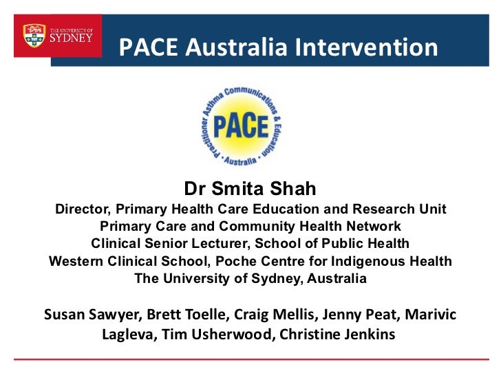 Dr Smita Shah Director, Primary Health Care Education and Research Unit Primary Care and Community Health Network Clinical...