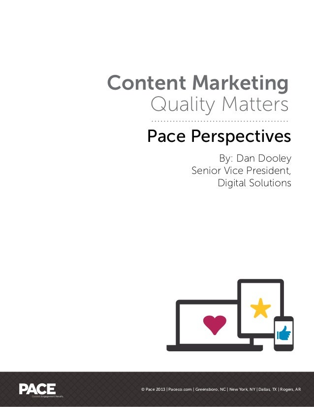 Content Marketing - Quality Matters