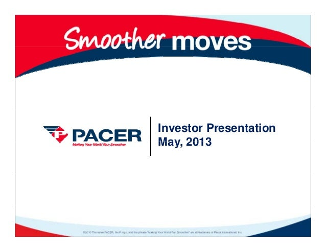 Pacer may13pres