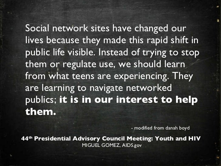 Youth and New Media: Presidents Advisory Council on HIV/AIDS
