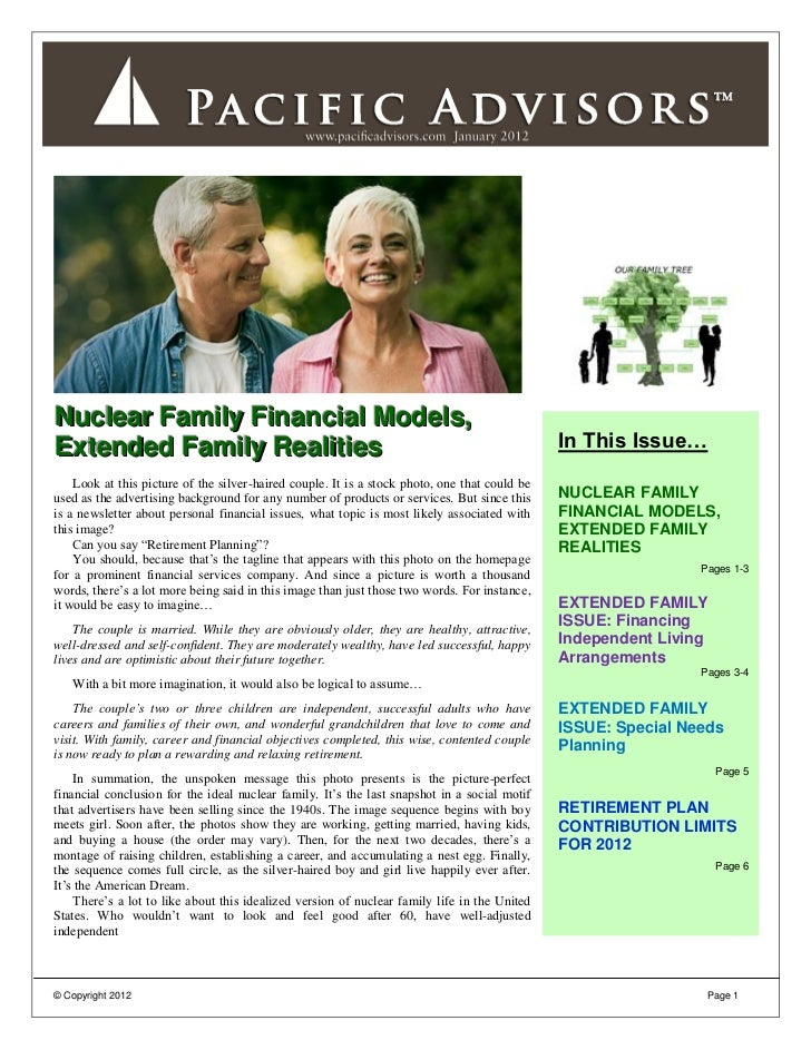 Nuclear Family Financial Models,Extended Family Realities                                                                 ...