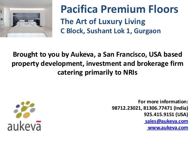 Pacifica Premium Floors - Sushant Lok 1 - Gurgaon