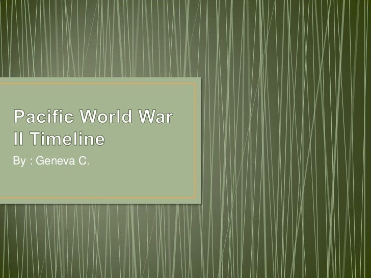 Pacific world war ii timeline
