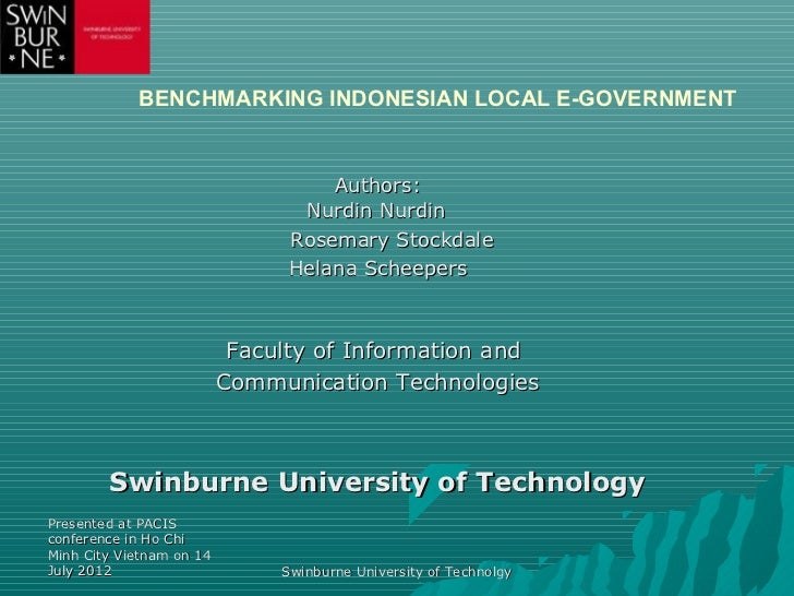 BENCHMARKING INDONESIAN LOCAL E-GOVERNMENT