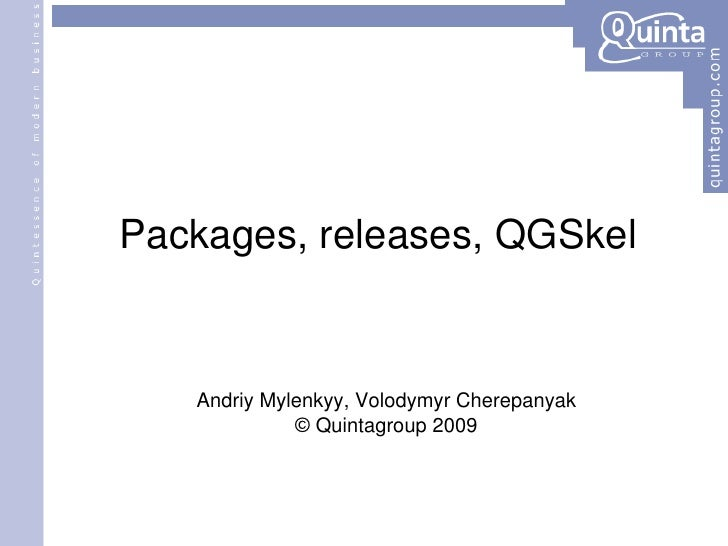 Packages, Releases, QGSkel