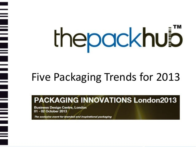 Packaging innovations show five packaging innovations for 2013