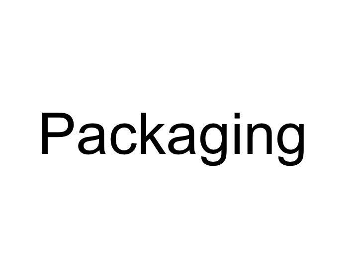 Packaging. Embalaje de productos.