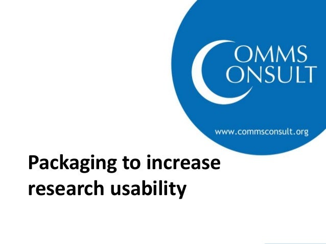 TTI PEC Nairobi Workshop - Packaging and research usability